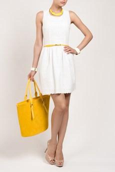Летнее белое платье из 100% хлопка TOM FARR