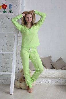 Пижама из 100% хлопка: брюки и кофта FIORITA