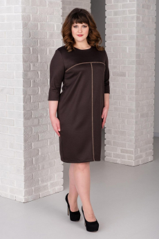 Платье шоколадного цвета Шарлиз
